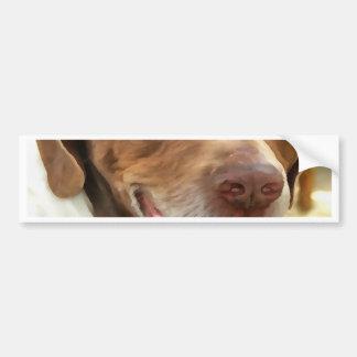 Arturo el perro de caza pegatina para coche