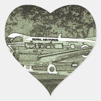Arty de Havilland DH104 Devon Pegatina En Forma De Corazón