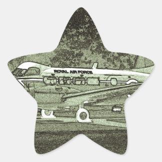Arty de Havilland DH104 Devon Pegatina En Forma De Estrella