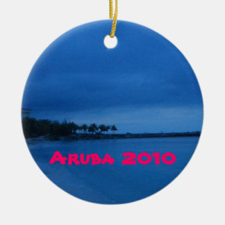 Aruba 2010 adorno navideño redondo de cerámica