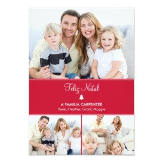 Árvore cartões de fotos de Modernos de férias Invitación 12,7 X 17,8 Cm