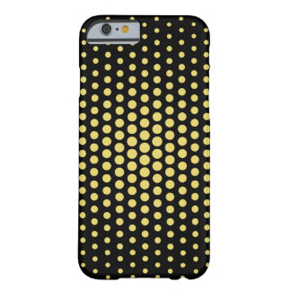 Arylide Techno amarillo puntea negro moderno Funda Para iPhone 6 Barely There