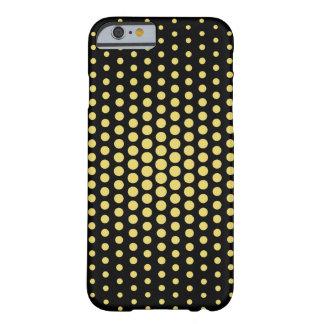 Arylide Techno amarillo puntea negro moderno Funda Para iPhone 6 Barely There