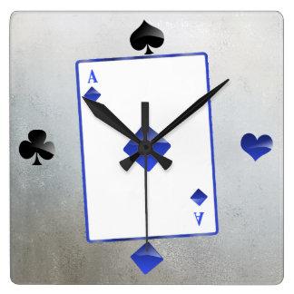 As azul de diamantes/del reloj del juego de la