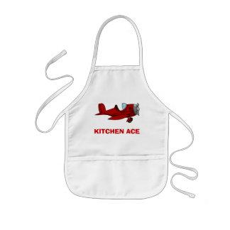 As de la cocina delantal infantil