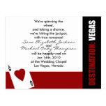 As de la invitación del boda de Vegas del destino  Postal