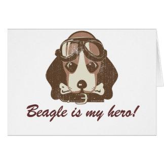 As del beagle [editable] tarjeta de felicitación