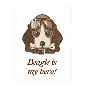 As del beagle [editable] postal