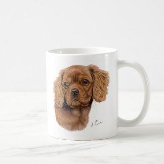 Asalte, perrito arrogante de rubíes del perro de taza de café
