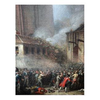 Asalto del Bastille, el 14 de julio de 1789 Postal