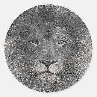 Ascendente cercano del león pegatina redonda