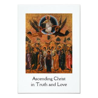 Ascensión de Cristo en verdad y amor Invitación 8,9 X 12,7 Cm