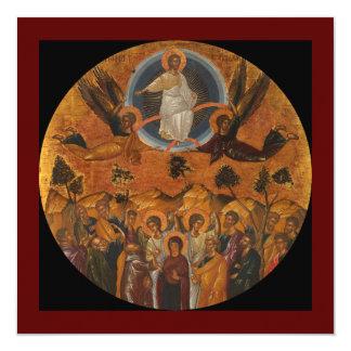 Ascensión de Cristo en verdad y amor Invitación 13,3 Cm X 13,3cm