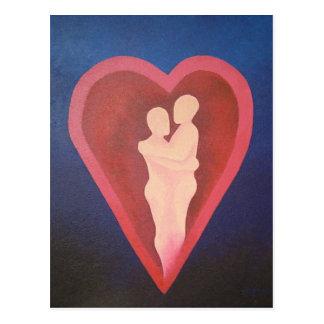 Asegure en el abrazo de la postal real del amor