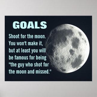 Asegúrese de que usted fijara sus metas (l) muy al póster