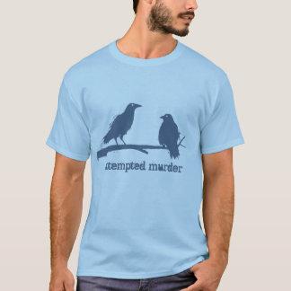 Asesinato de cuervos, t-shrit divertido del camiseta