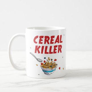 Asesino del cereal de desayuno taza básica blanca