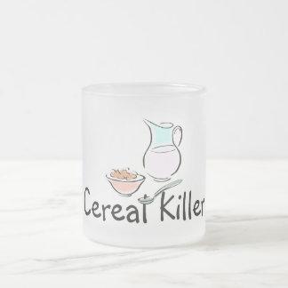 Asesino del cereal taza de cristal