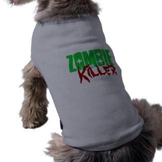 Asesino divertido del zombi de la camisa del perro