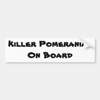 Asesino Pomeranian a bordo pegatina para el parach Pegatina Para Coche