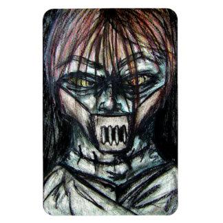 Asesino psico de la chaqueta recta para Halloween Imán Flexible