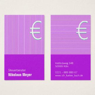 Asesor fiscal tarjetas de presentación lilas
