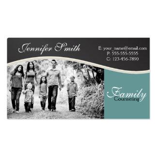 Asesoramiento de la familia plantilla de tarjeta de negocio