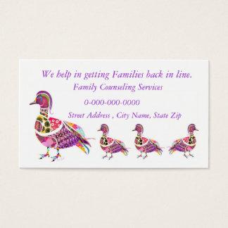 Asesoramiento de servicios tarjeta de negocios