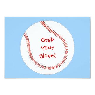 Asga su guante, invitaciones del cumpleaños del invitación 12,7 x 17,8 cm