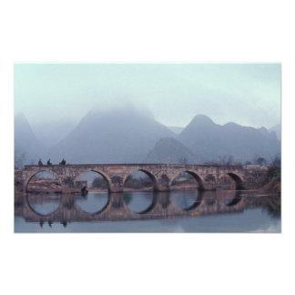 Asia, China, Guizhou, Anshuichang. Antiguo Impresión Fotográfica