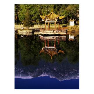 Asia, China, Yunnan, Dali. Montañas de Cangshan Postal