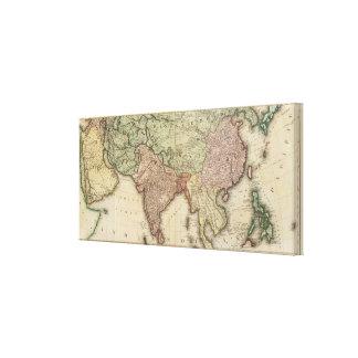 Asia, hojas de S Lona Envuelta Para Galerias