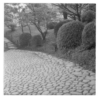 Asia, Japón, Hiroshima. Shukkei, jardín del en Azulejo Cuadrado Grande