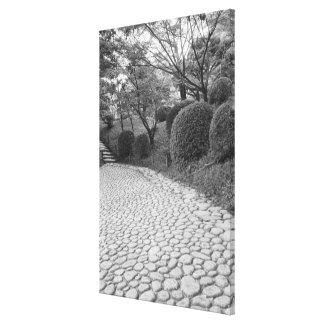 Asia, Japón, Hiroshima. Shukkei, jardín del en Impresión En Lienzo Estirada