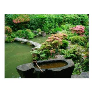 Asia, Japón, Kyoto. Jardín del zen Postal