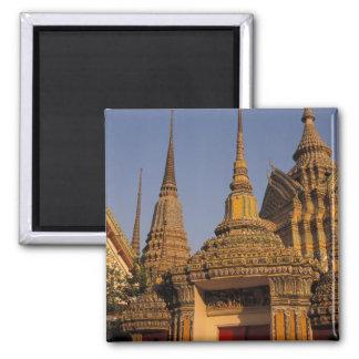 Asia, Tailandia, Bangkok, Wat Po, ciudad más vieja Imán Cuadrado