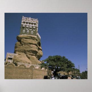 Asia, Yemen, lecho de un río seco Dhar. Palacio de Impresiones