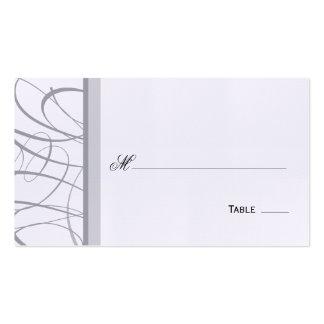 Asiento de la tabla de la escritura/tarjeta elegan tarjeta de visita