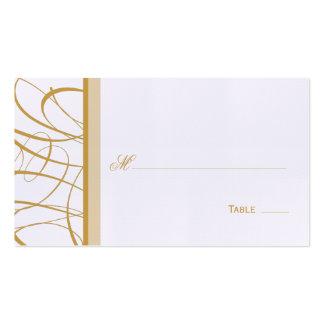 Asiento de la tabla de la escritura/tarjeta elegan plantilla de tarjeta personal