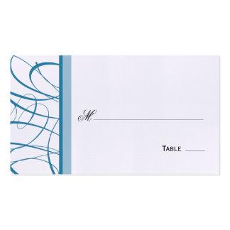 Asiento de la tabla de la escritura/tarjeta elegan tarjetas de visita