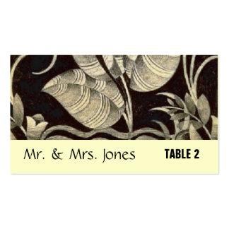 asiento de la tabla para casarse plantillas de tarjetas personales