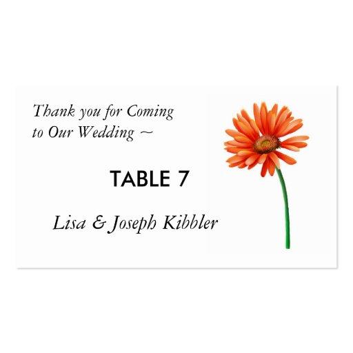 asiento de la tabla para casarse tarjeta de visita