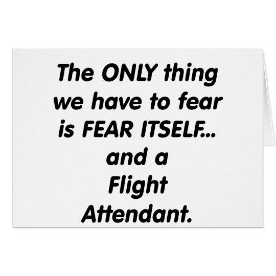 asistente de vuelo del miedo tarjeta de felicitación