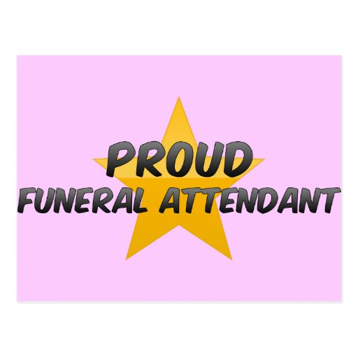 Asistente fúnebre orgulloso tarjeta postal