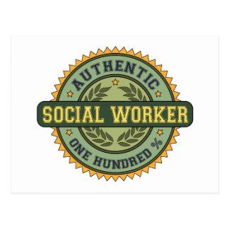 Asistente social auténtico tarjeta postal