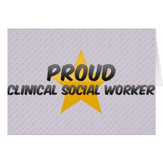 Asistente social clínico orgulloso tarjeta de felicitación