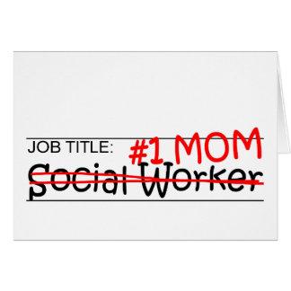 Asistente social de la mamá del trabajo tarjeta de felicitación