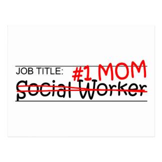 Asistente social de la mamá del trabajo tarjeta postal