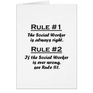 Asistente social de la regla tarjeta pequeña