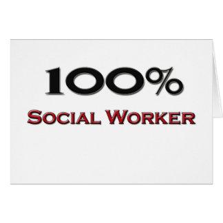 Asistente social del 100 por ciento tarjetas